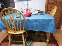 Wooden dining table with 4 chairs Mississauga, L5C 2G8