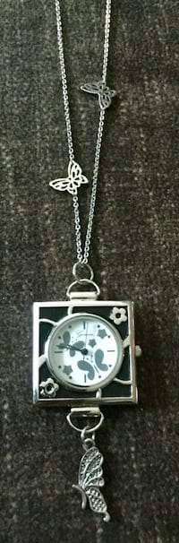 Butterfly Watch Necklace
