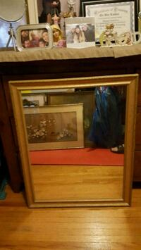 brown wooden framed electric fireplace Toronto, M3H