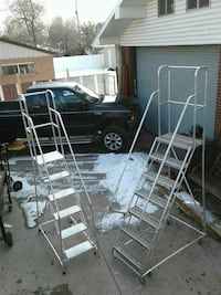 two stainless steel wheeled ladders West Valley City, 84119