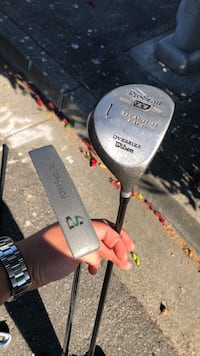 Wilson golf driver and putter