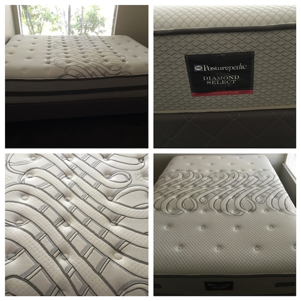 Queen Size Sealy Posturepedic Diamond Select Plush Mattress Set And Frame