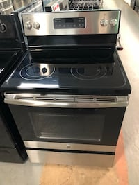 New GE stainless steel glass top stove Reisterstown, 21136