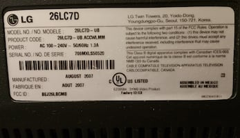 CD 26 Inches TV