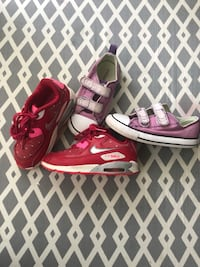 Air Nike and Converse Girl Shoes Size 9 Toddlers Glenn Dale, 20769