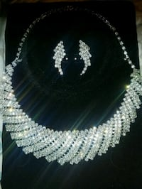 white and blue beaded necklace Queens, 11411
