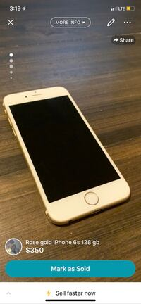 gold iPhone 6 with case Ardrossan, T8E 2M8
