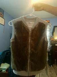 brown and white fur vest Arlington, 22204