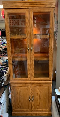 Wood Hutch Cabinet Brand new not a scratch on it make your best offer
