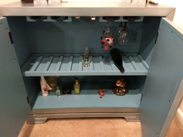 Bar cabinet with wine rack 2