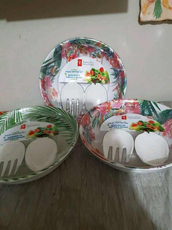 NEW  3pcs Salad Serving Set. Dishwasher Safe.  $10 0e01bf04-5b4d-4f82-ac2b-b40aa4a61f1b