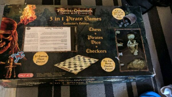 3 in 1 Pirates of the Caribbean Games -Chess Set