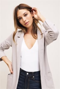 Aritzia (Talula) blazer in dark grey Surrey
