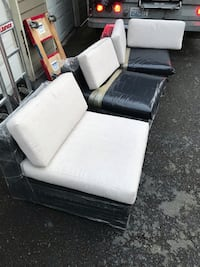 white and black leather sofa Burien, 98168