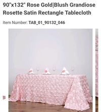 FOR RENT 1 TABLE CLOTH AND 12 RUNNERS Brampton