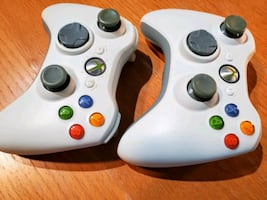 Xbox 360 Controllers, Power Brick, Cables, and Hard Drive