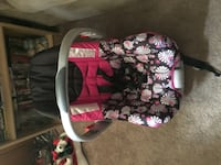 Baby's pink and black floral car seat carrier Hillsborough, 27278