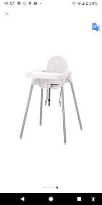 ANTILOP High chair with tray White/silver color - IKEA Toronto, M4P 1Y9