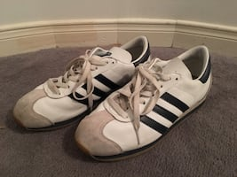 White adidas country men's sneakers