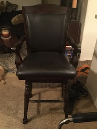 black leather padded rolling armchair 1939 mi