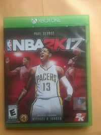 NBA 2K17 Xbox One game case New Britain, 06052