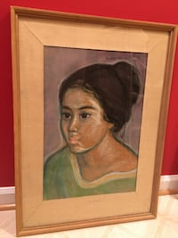 Original Indonesian pastel of a young woman (price reduced) Leesburg