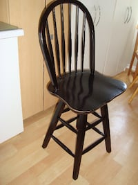 "Swivel wooden chairs / bar stool black chairs with 24"" high seat - $90 Mississauga"