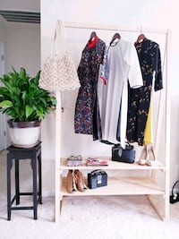 Hand made clothes rack