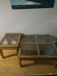 Coffee Table and 2 Matching Side Tables. (1pictured) Solid Wood. Mississauga, L5J 2E5