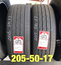 2 used tires 205/50/17 Continental (B) Houston, 77047