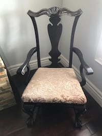 Black  wooden  antique frame arm chair