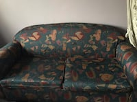 black and brown floral fabric sofa Mississauga