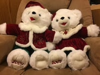 two white teddy bear with santa claus costume Montréal, H3M 2G9