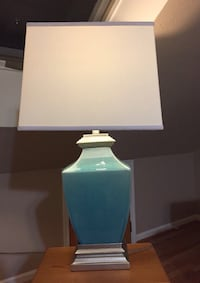 Lamp, light: exquisite lamp, blue/pewter; light
