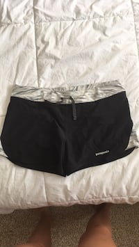 Black and white Patagonia shorts