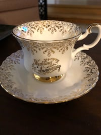 tea cup and saucer .  Royal Albert bone China. Brand new.   London, N5Y