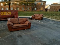 Free leather couch and love seat