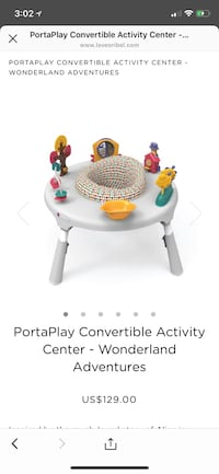 baby's white and red PortaPlay Wonderland Adventures convertible activity center screenshot Daly City, 94015