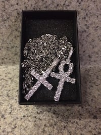Iced out ahnk and cross pendant set East Ridge, 37412