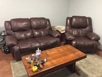 brown leather 3-seat sofa Langley, V2Y 0C6