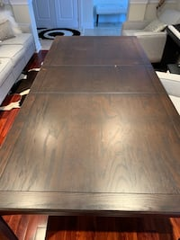 brown wooden table with chairs Mississauga