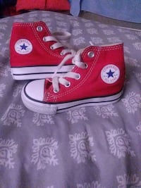 red-and-white Converse All Star high tops Bridgeport, 06610