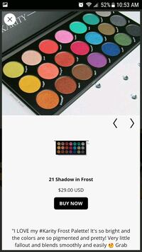 Karity Frost eyeshadow palette   8 km