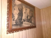 Blk and white horse picture antique Portland, 97233