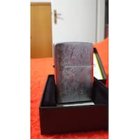 """Genuine Zippo Lighter """"Vines with Initial Panels"""" (Made in USA) THESSALONIKI"""