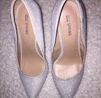 Call it spring silver heels size 8