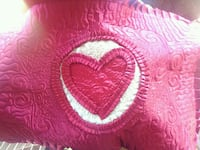 Red satin with hearts comforter and 2 pillow cases Windsor, N8W 3W4