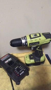 Ryobi Cordless Hammer Drill with Battery and Charger