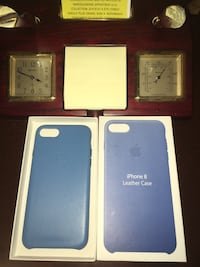 Oem iPhone 8 Leather Case Cover Blue Falls Church, 22042