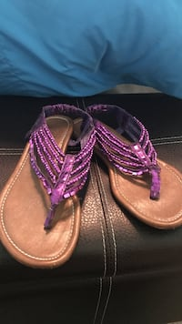 Pair of purple-and-brown sandals Palm Coast, 32164